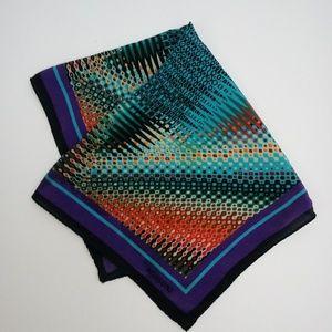 Missoni Vivid Colorful Silk Square Scarf